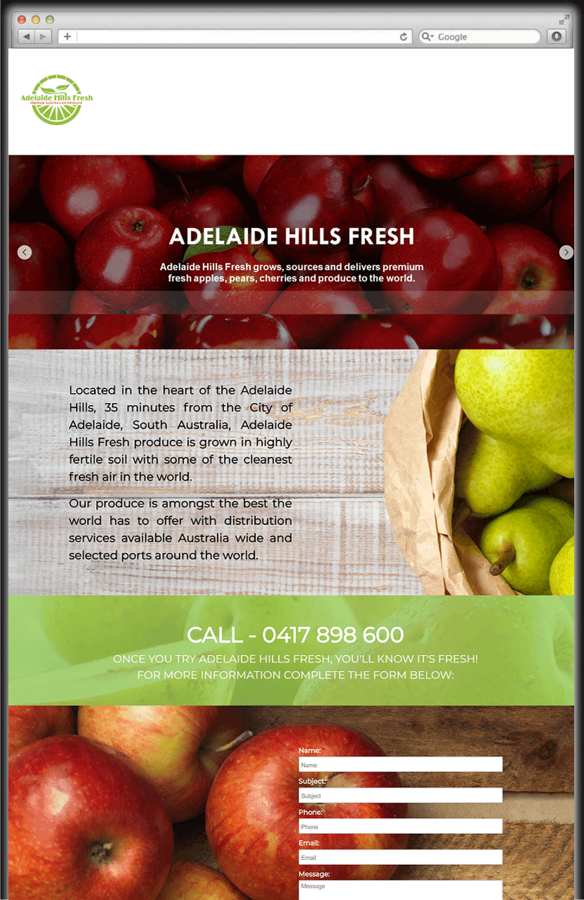 Fresh Product Adelaide Hills