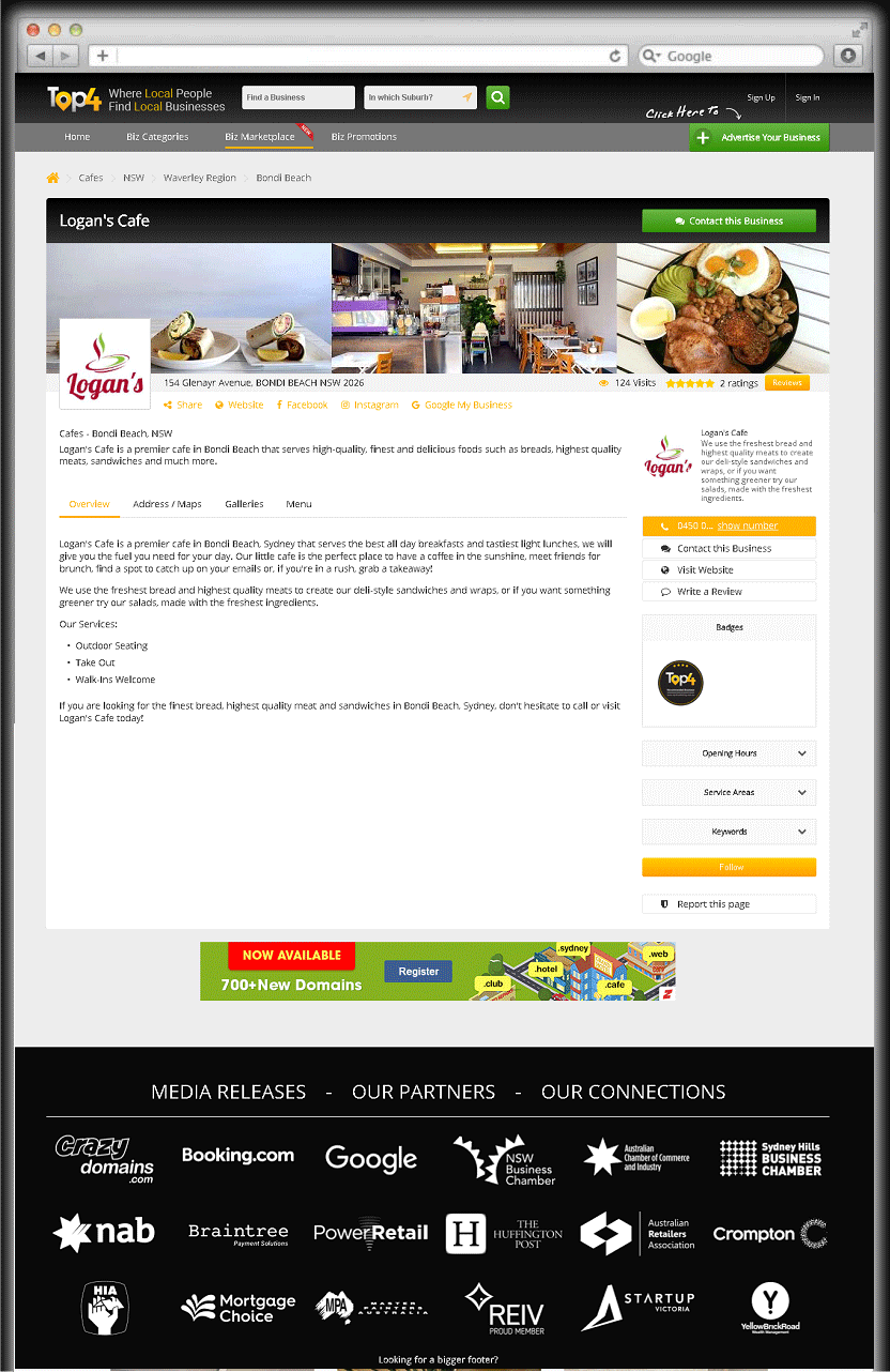 Premier Cafe Bondi Beach